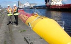 Pelamis Wave Energy Docked | Credit - Department Of Energy And Climate Change