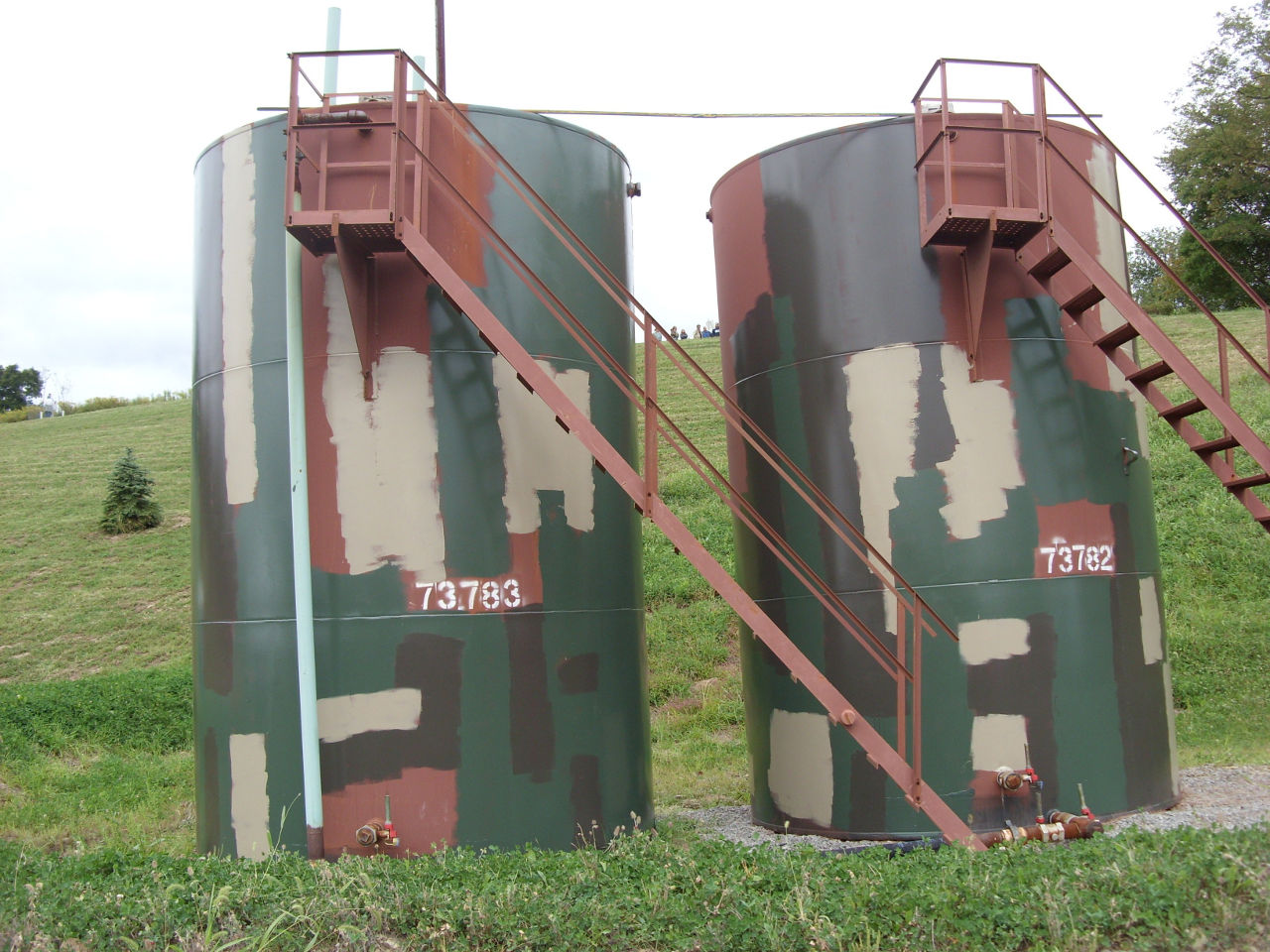 natural gas production brine water tanks