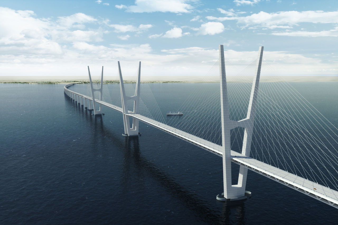 Fehmarnbelt Fixed Link - Cable-stayed Bridge   Credit  Femern A SCable Stayed Bridge