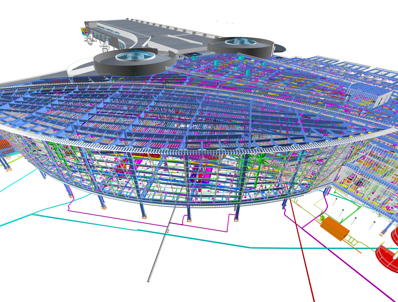 San Diego International Airport's Terminal 2 in BIM | Image courtesy of HNTB Architecture