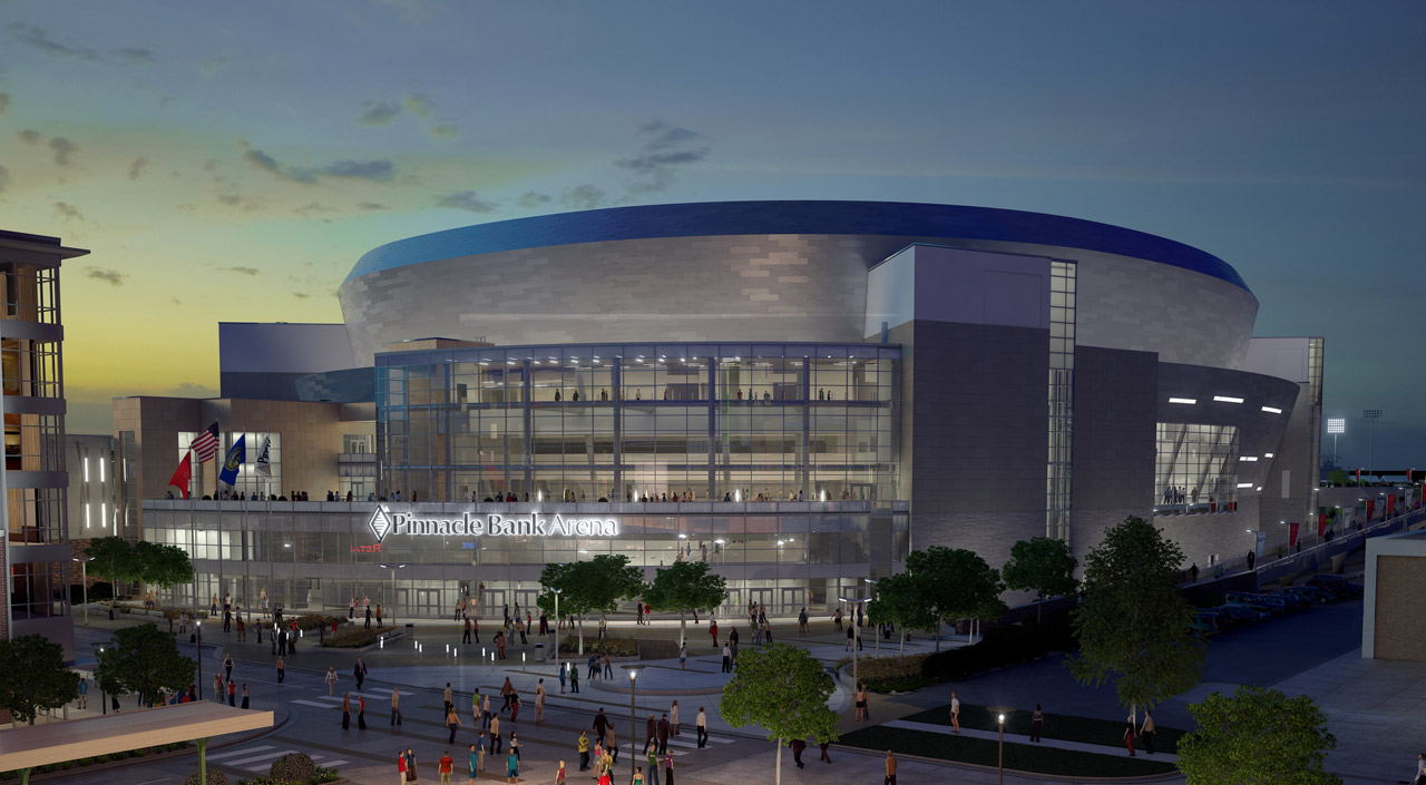 DLR Group's new Pinnacle Bank Arena in Lincoln, Nebraska
