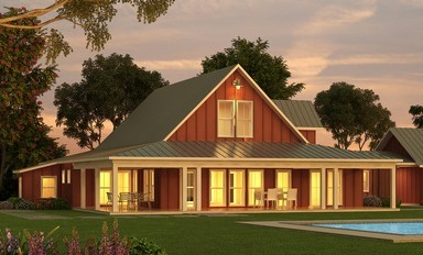 Barn-inspired Plan 888-2