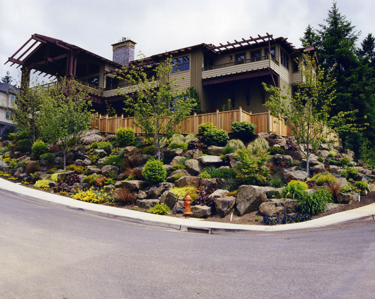 Landscaping ideas on a slope landscape