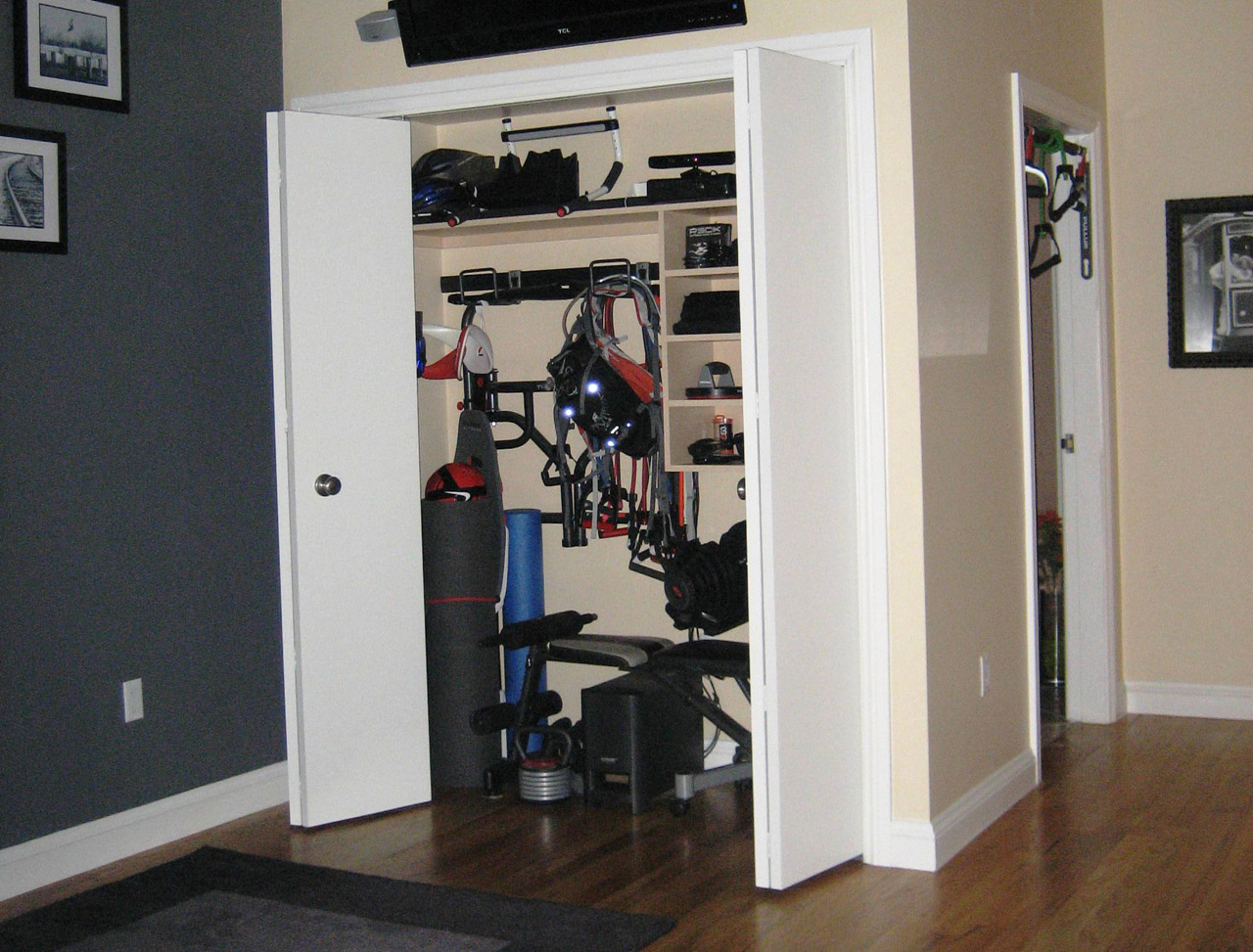 The home gym balancing functionality with aesthetics