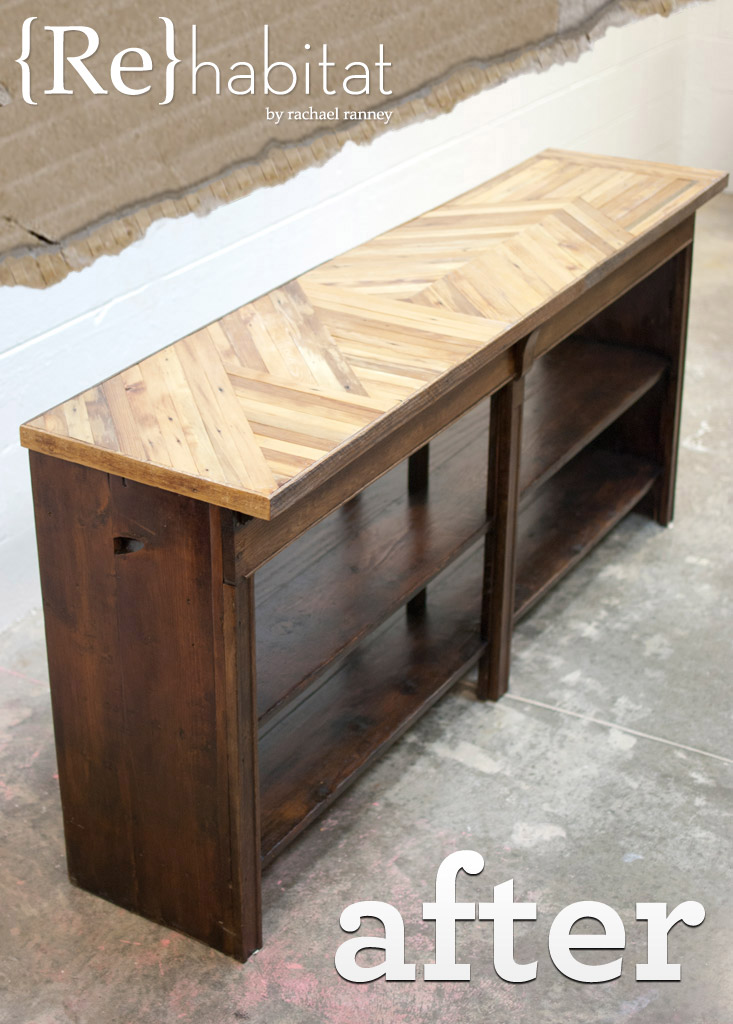 Advanced woodworking salvaged buffet table buildipedia - Buffet table images ...