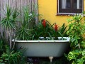 DIY Bathrub Flower Box By Eclectic Landscape By Los Angeles Interior Designer Melissa Mascara Design