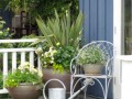 DIY Metal Colander Traditional Patio By Vancouver Landscape Architect Glenna Partridge Garden Design