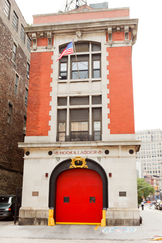 "Hook and Ladder 8, made famous by the film ""Ghostbusters,"" is located in lower Manhattan."