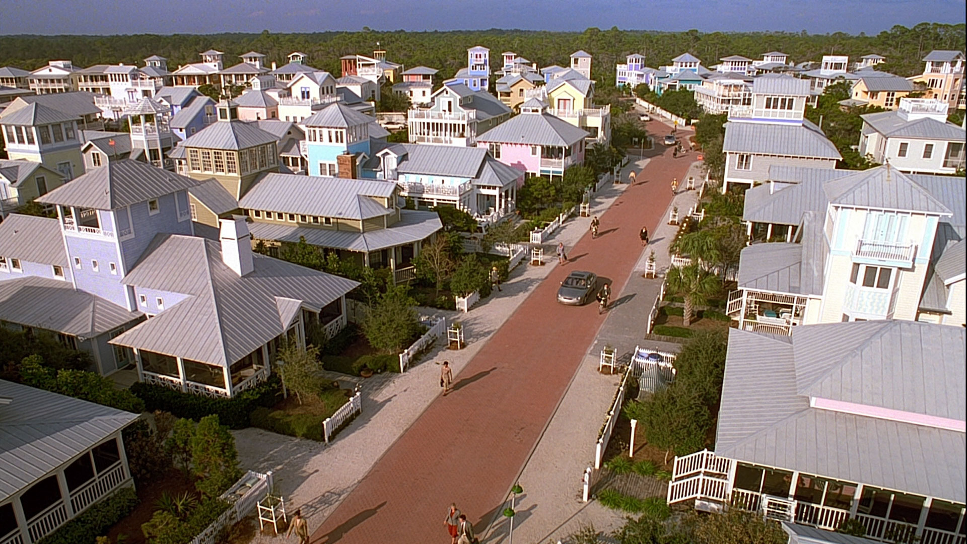 New Urbanist movement in neighborhood planning, Seaside, Florida.