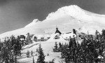 Mt Hood And Timberline Lodge Are Shown Under A Blanket Of Snow During The Winter Of 1942 - Photo By George Henderson For The US Forest Service