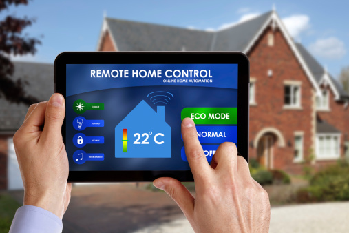 Home automation system stock photo
