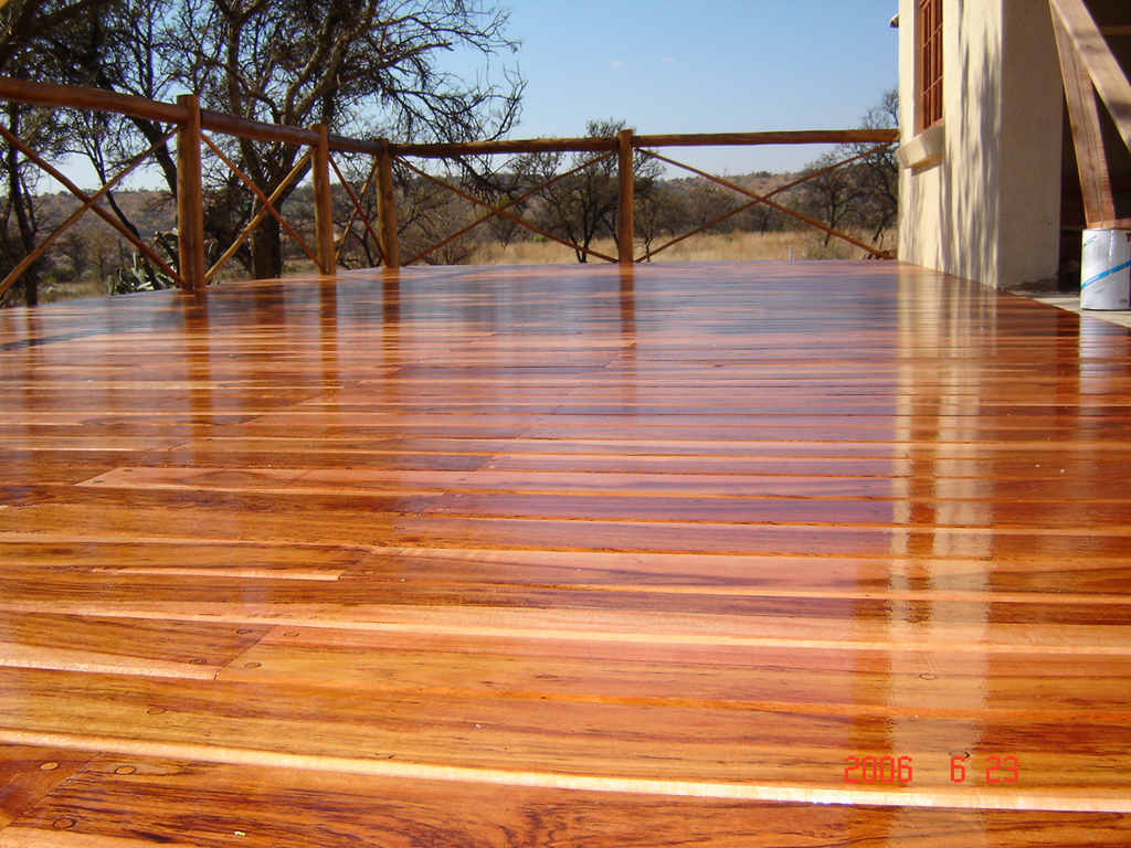 Wood patio decking buildipedia for Hardwood outdoor decking