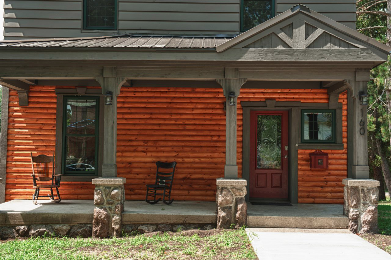 This Porch Renovation Project Features Fypon Products Used For The Door And  Window Surround, On