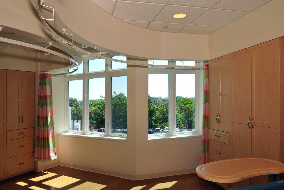 Interior room view of Elizabeth Seton Pediatrics Center with ENERGY STAR-qualified windows.  .