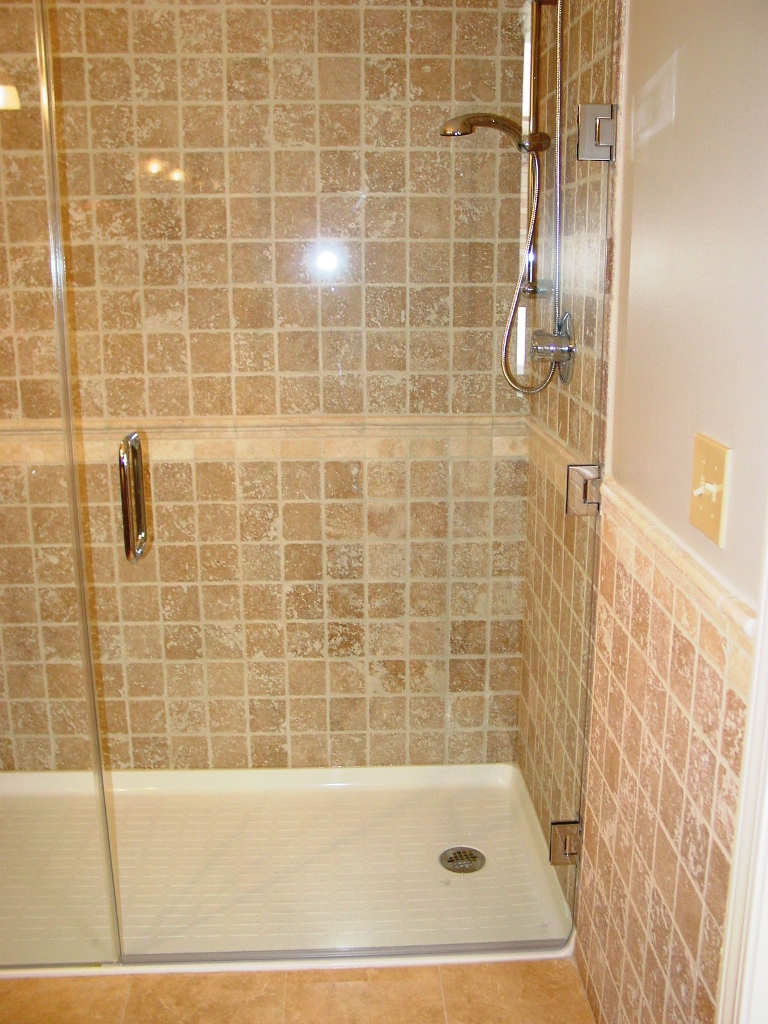 Install bathtub door doors for Bathroom entrance doors