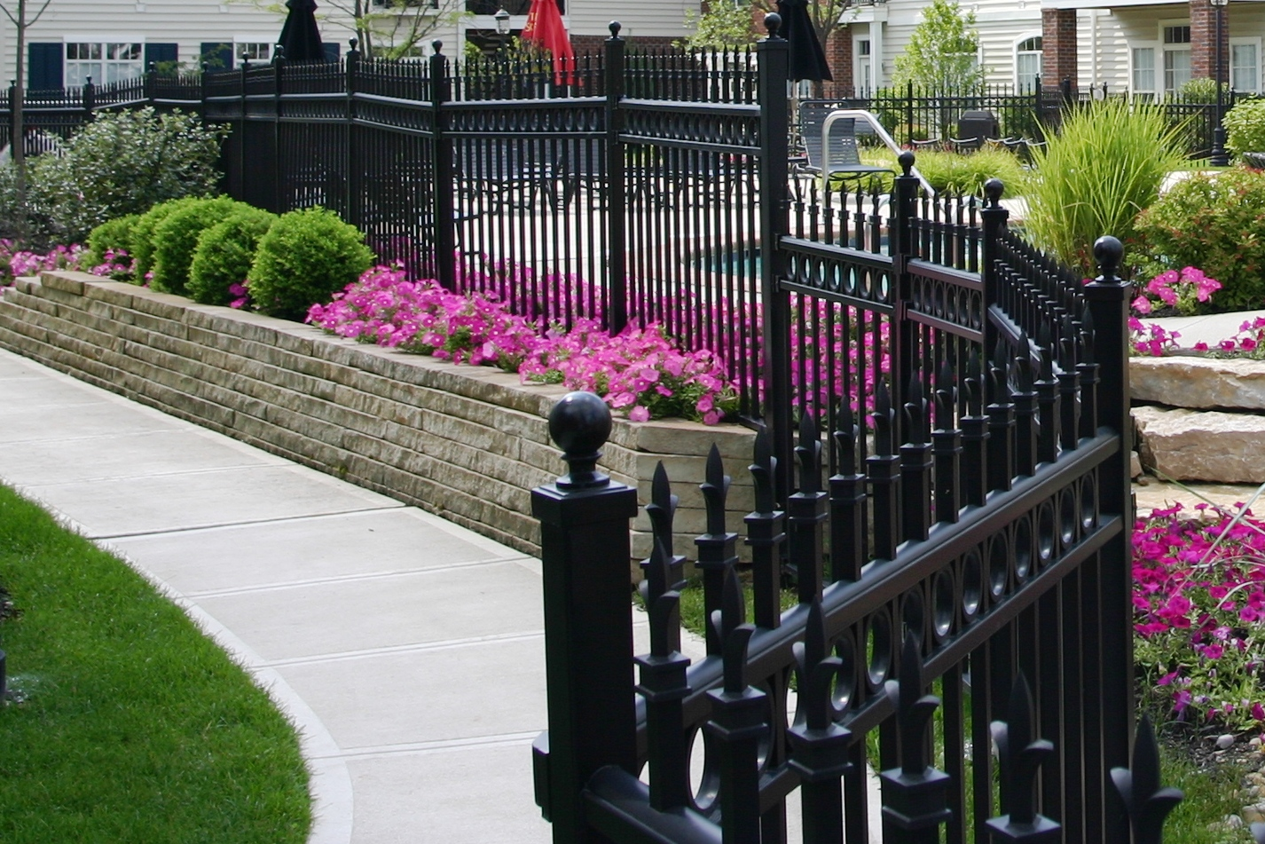 decorative metal fences and gates