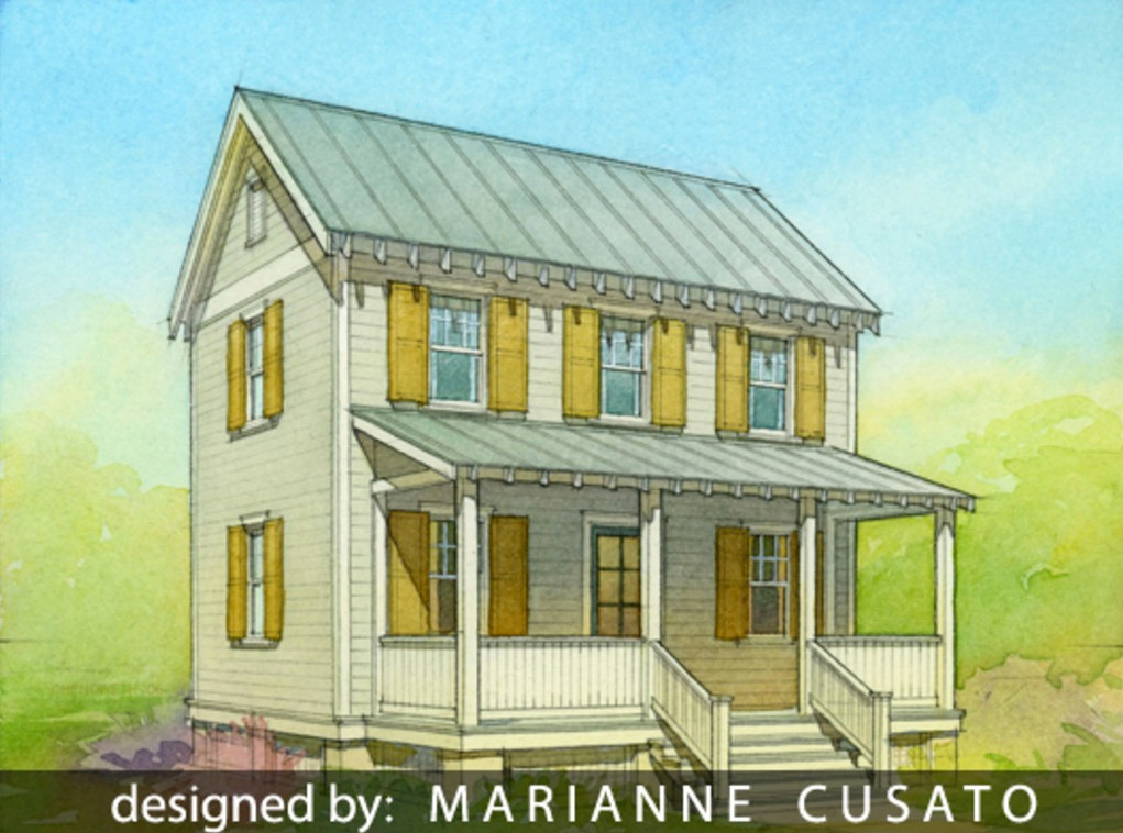 Build your own version of 2013 39 s small home of the year for Two story cottage plans