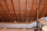 Air ducts in attic