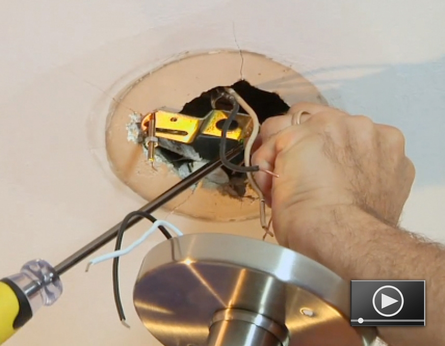 Install Lighting Fixture. How To Replace A Light Fixture Install ...