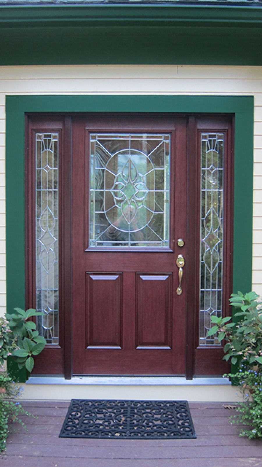 Entryway makeover with therma tru and fypon products for Therma tru entry doors