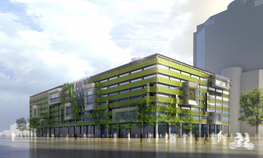 HOK / Vanderweil Process Zero Concept Building: As Green As... Algae?