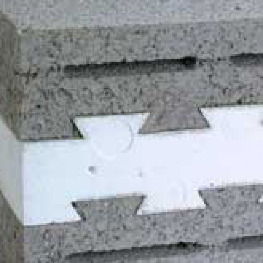 Concrete block insulation buildipedia for Cement foam blocks