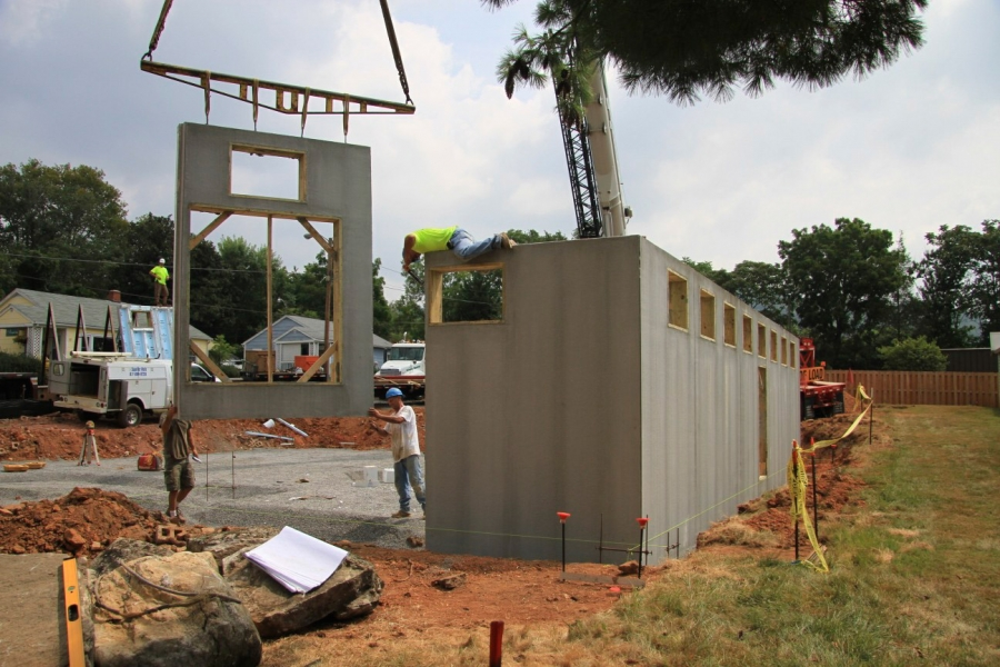 Asheville Yoga Center Constructed with Superior Walls®