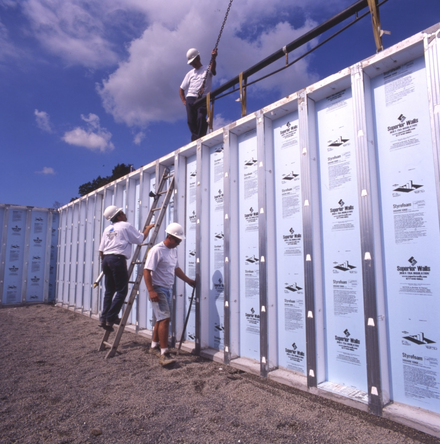 Builder starts 35 green homes with superior walls for Superior foundation walls