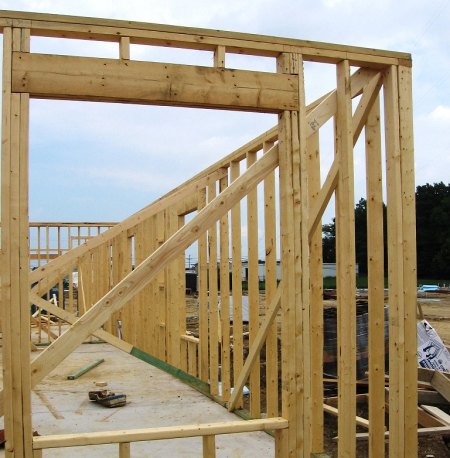 Wood Wall Construction : Wood framing buildipedia