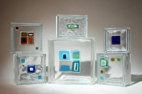 5 Places to Use Decorative Art Glass Tile Blocks