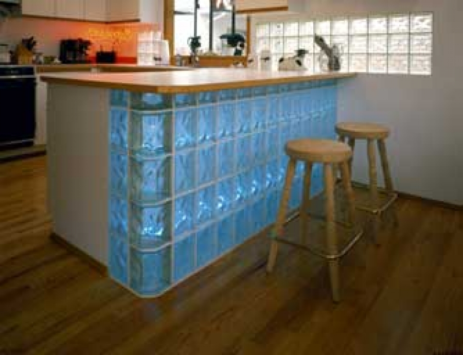 How to use glass blocks in a kitchen buildipedia - Glass bricks designs walls ...
