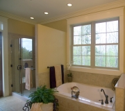 Simonton ProFinish windows capture views from this Georgia master bath.