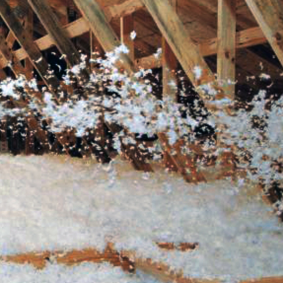 Cellulose insulation material buildipedia for Blown mineral wool cavity insulation