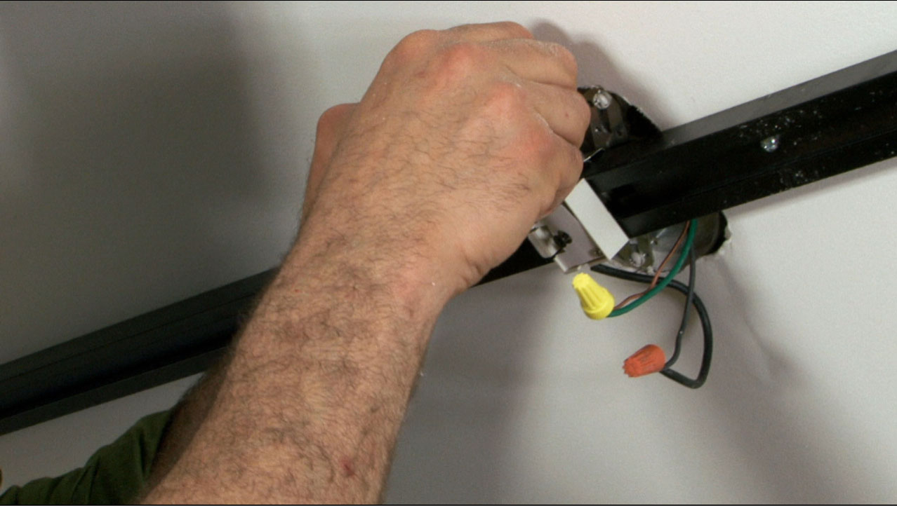 Installing Track Lighting In Your Home Buildipedia Electrical Wiring Tuck The Wires