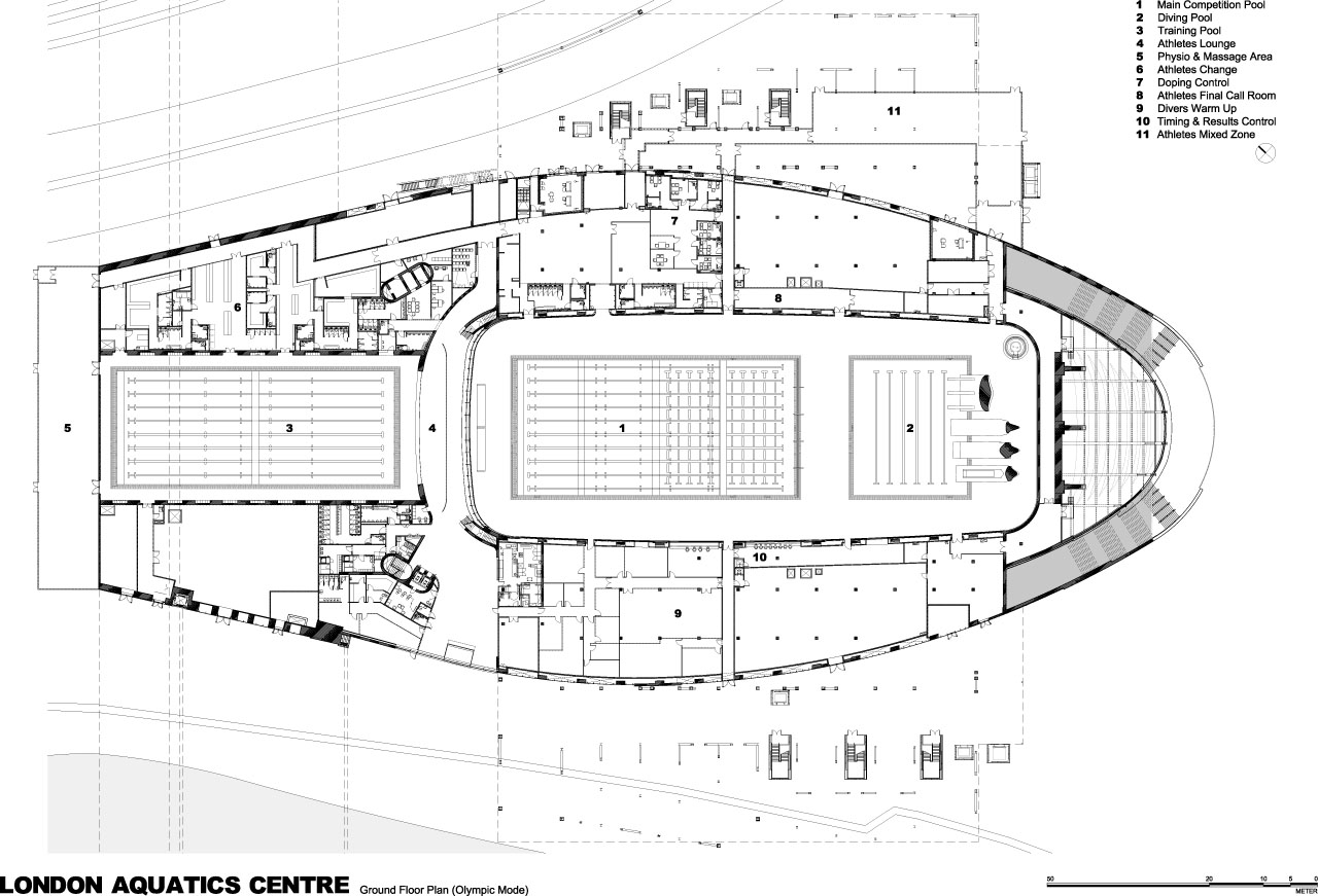London 2012 Aquatics Centre By Zaha Hadid Buildipedia 2002 F250 Wiring Diagrams Free Download Diagram Schematic Drawings Credit